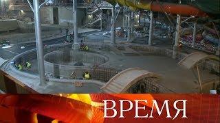 Смотреть видео Мэр Москвы Сергей Собянин сообщил, что в «Лужниках» возрождают плавательный центр. онлайн