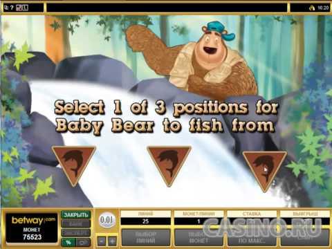 Медвежий игровой автомат Bearly Fishing