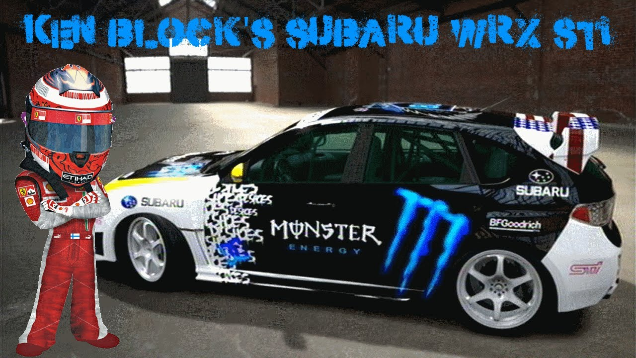 Forza motorsport 4 design showcase ken blocks monster energy subaru wrx sti youtube