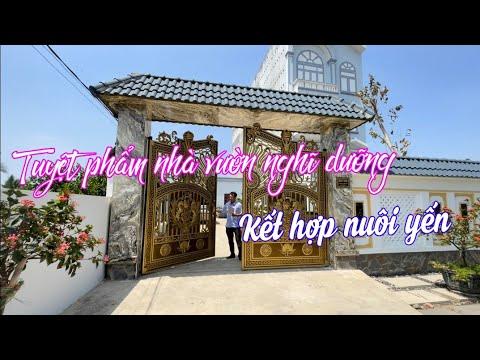MS 1275    Bán nhà vườn nghỉ dưỡng, nuôi Yến tuyệt đẹp ở Vàm Láng, Gò Công Đông, Tiền Giang