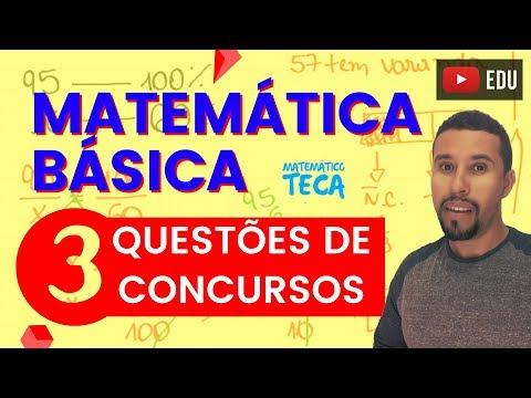 Matemática Básica   3 Questões de Concursos (Nível Fundamental)