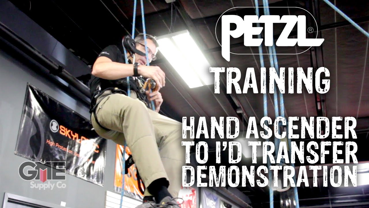 Petzl Training Ascender To I D Self Braking Descender Transfer Gme Supply Youtube