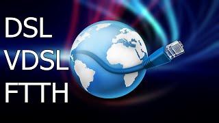 DSL, VDSL und FTTH - Begriffe und Funktionen erklärt