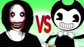ДЖЕФФ УБИЙЦА VS БЕНДИ ИНК | СУПЕР РЭП БИТВА | Jeff The Killer ПРОТИВ Bendy and The Ink Machine