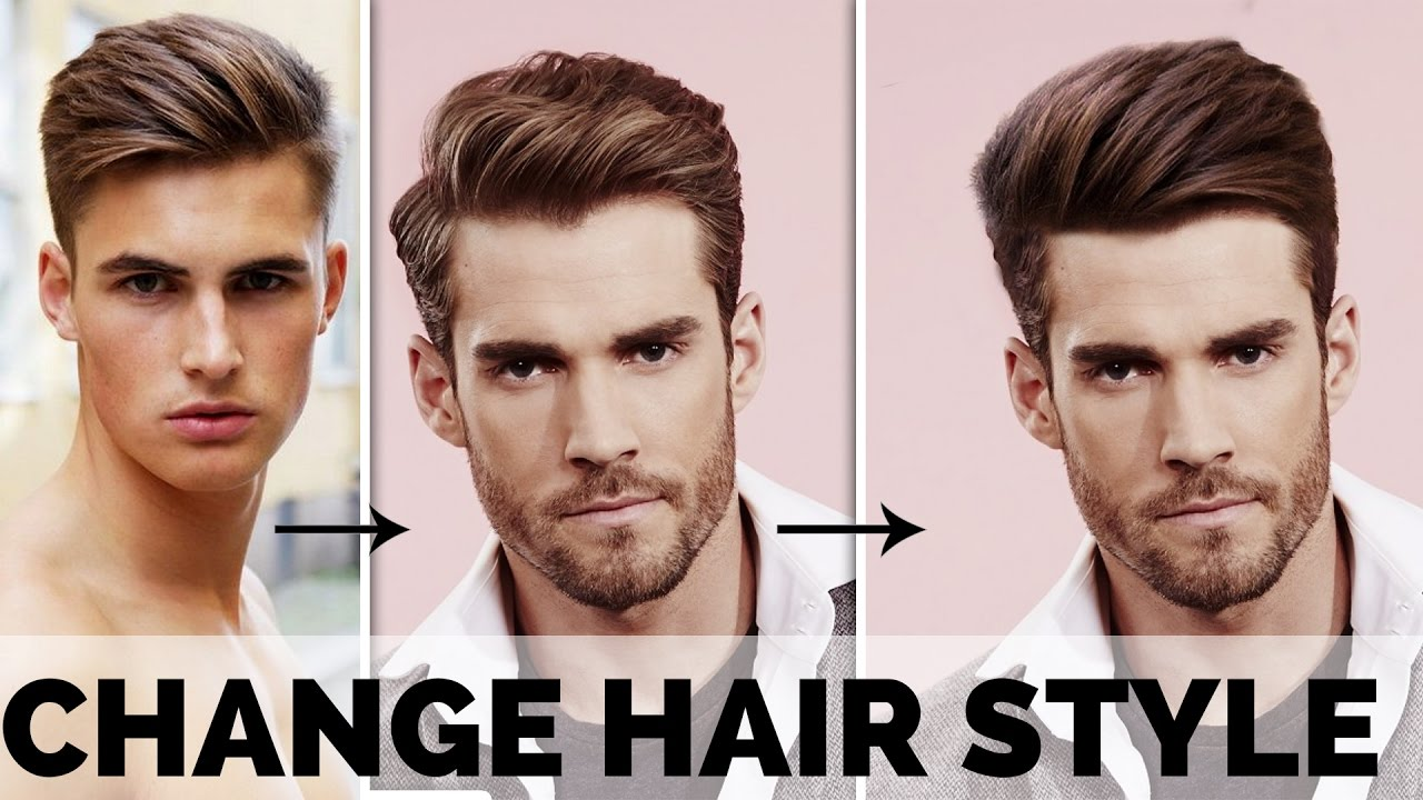 change of hair style photoshop tutorial how to change hair style using 7527