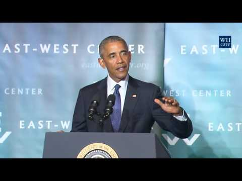 Obama In Hawaii- Full Speech On Climate Change