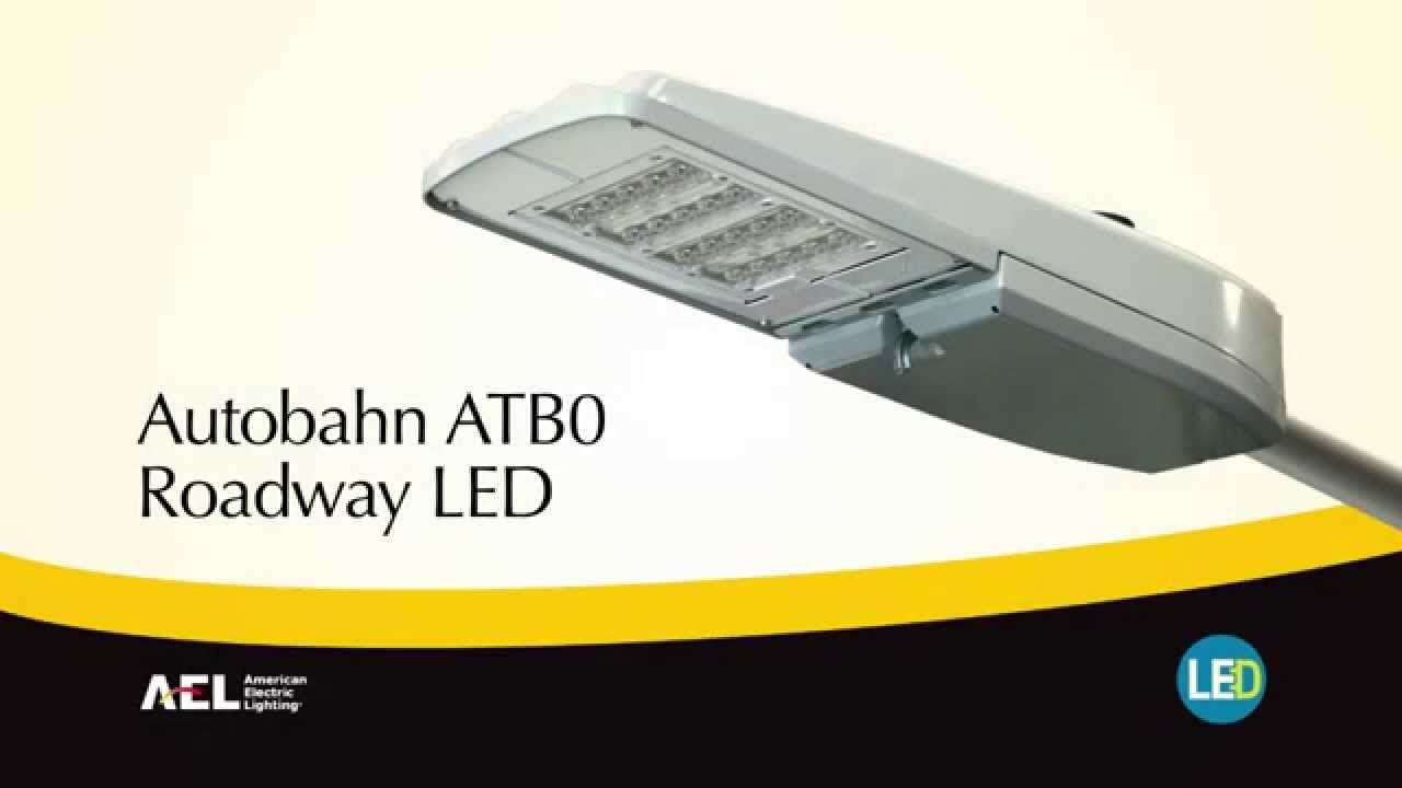 autobahn atb0 led roadway security luminaire youtube. Black Bedroom Furniture Sets. Home Design Ideas