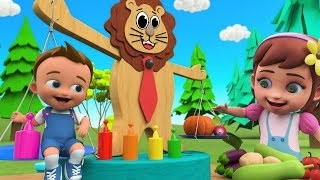 Little Babies Fun Play Learning Vegetable Names for Children with Balance Toy Set 3D Kids Toys Edu