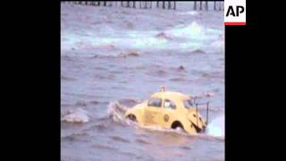 SYND 17 6 73 VOLKSWAGEN BEETLE CAR IN WATER IN BLACKPOOL