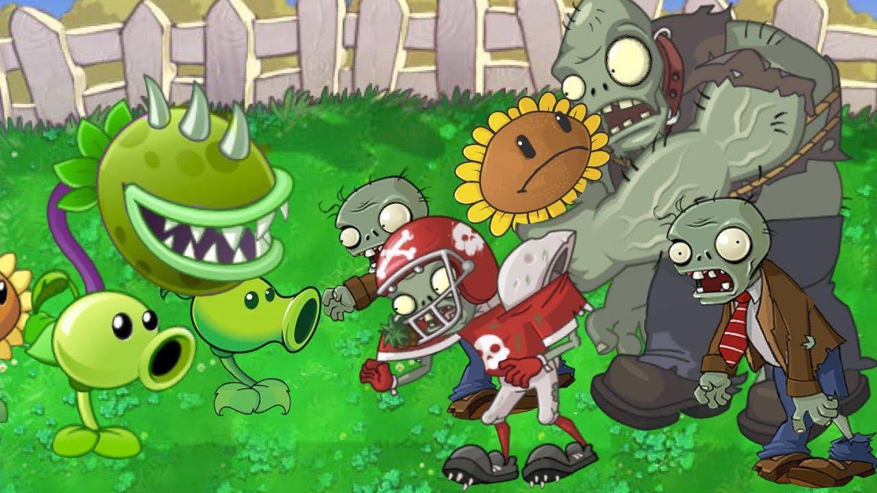 Plants vs. Zombies Animation Pvz 2 in Pvz1 (Cartoon)(parodia)