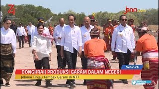 Kunjungi NTT, Jokowi Ingin Pastikan Tambak Garam Sudah Berproduksi
