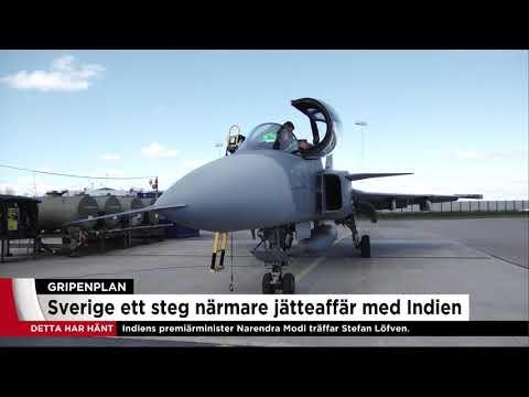 Sverige ska sälja Gripen-plan till Indien - Nyheterna (TV4)