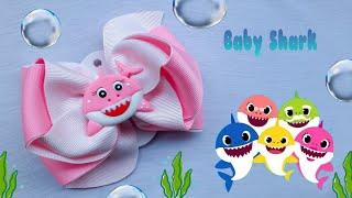 Laço Rubi – Tema Baby shark – Laço Riqueza