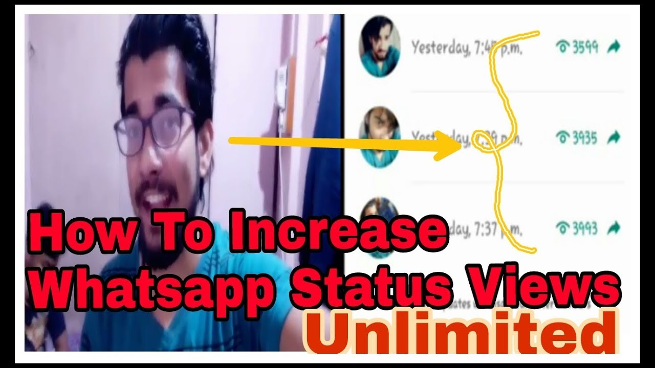 Increase Whatsapp Status Views Unlimited By Ss Vive Youtube