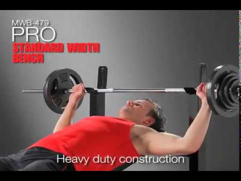 Marcy Pro Standard Width Bench Mwb 479 Youtube