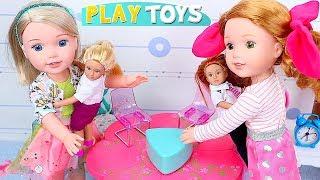 AG Baby Dolls Play w/Mini OG Dolls in Dollhouse!