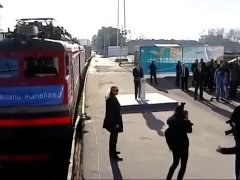 Georgia welcomes first Silk Road container train from China