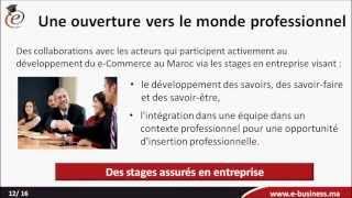 L'école d'e Business: Formation Bac+3 e-Commerce et e-Marketing au Maroc