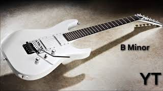 Lively Heavy Rock Guitar Backing Track B Minor