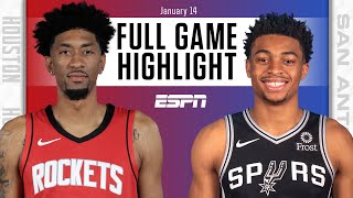 Houston Rockets vs. San Antonio Spurs [FULL GAME HIGHLIGHTS] | NBA on ESPN