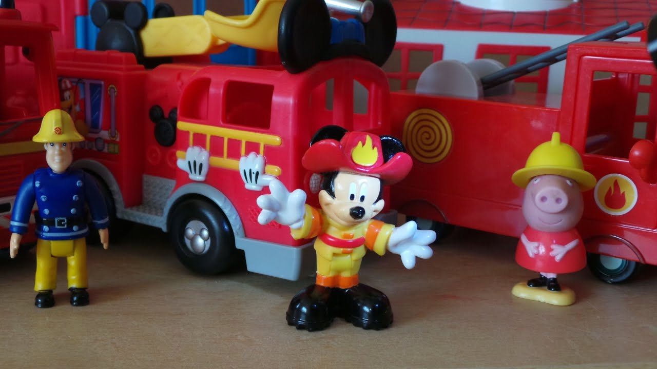 Top 3 Fire Engine Toys Peppa Pig Mickey Mouse And Fireman Sam