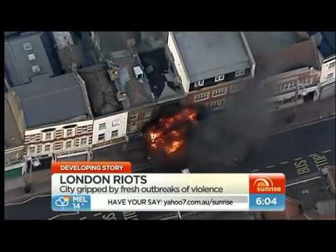 Yahoo7 News, London burns