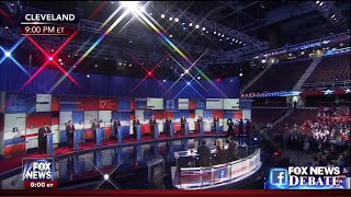 First Republican Primary Debate - Main Stage - August 6 2015 on Fox News
