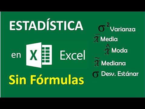Cómo Hallar Media, Mediana, Moda, Desviación Estándar Y Varianza En Excel Sin Fórmulas