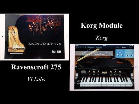 Ravenscroft 275 VI Labs vs. Korg Module   Virtual iOS Pianos