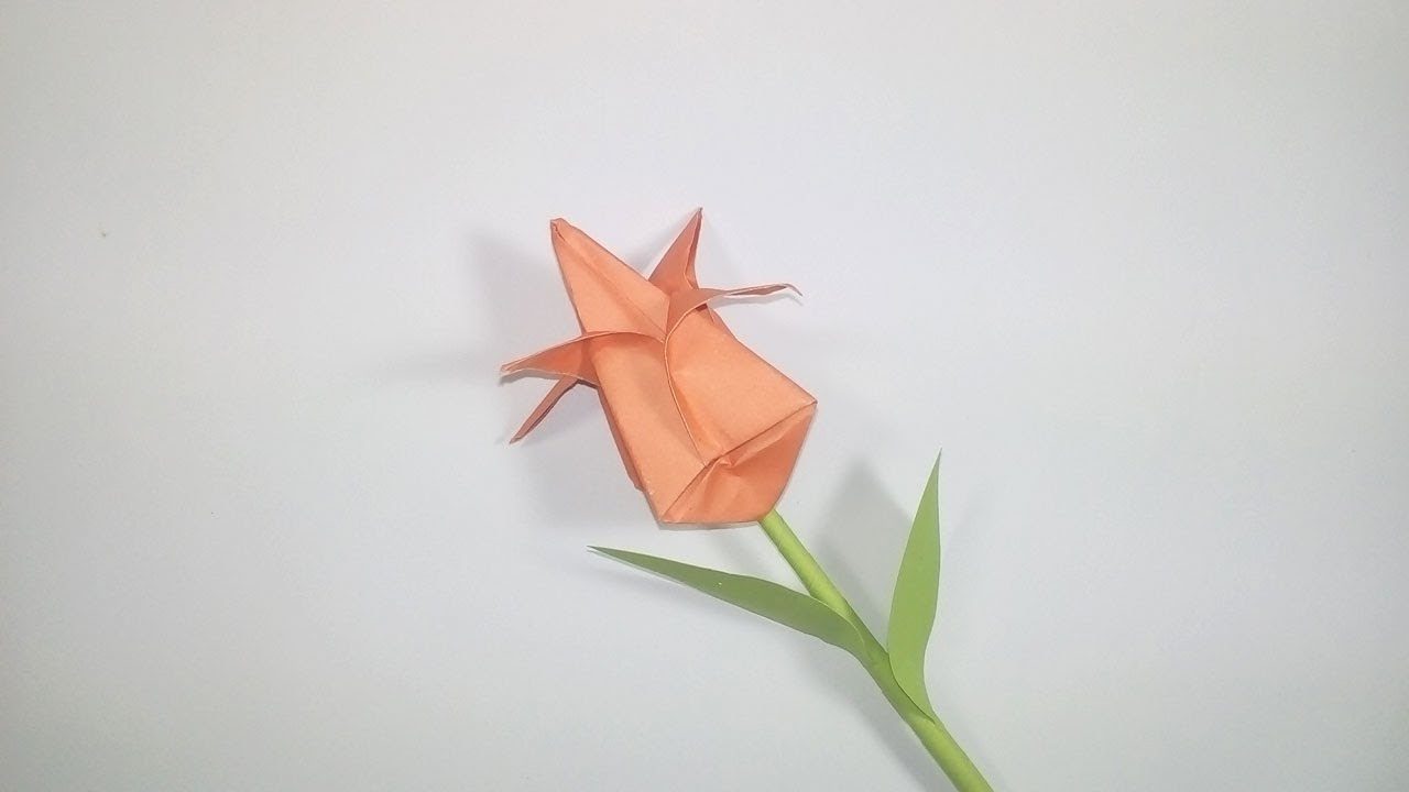 Origami tulip flower how to make a paper tulip flower easy origami tulip flower how to make a paper tulip flower easy origami tulip flower instructions mightylinksfo
