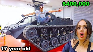 HE SURPRISED ME WITH A $400,000 TANK !!!