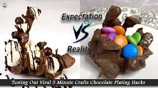 Testing Out Viral Food Hacks By 5 MINUTE CRAFTS | Trying Out Viral CHOCOLATE  Hacks | Hunger Plans