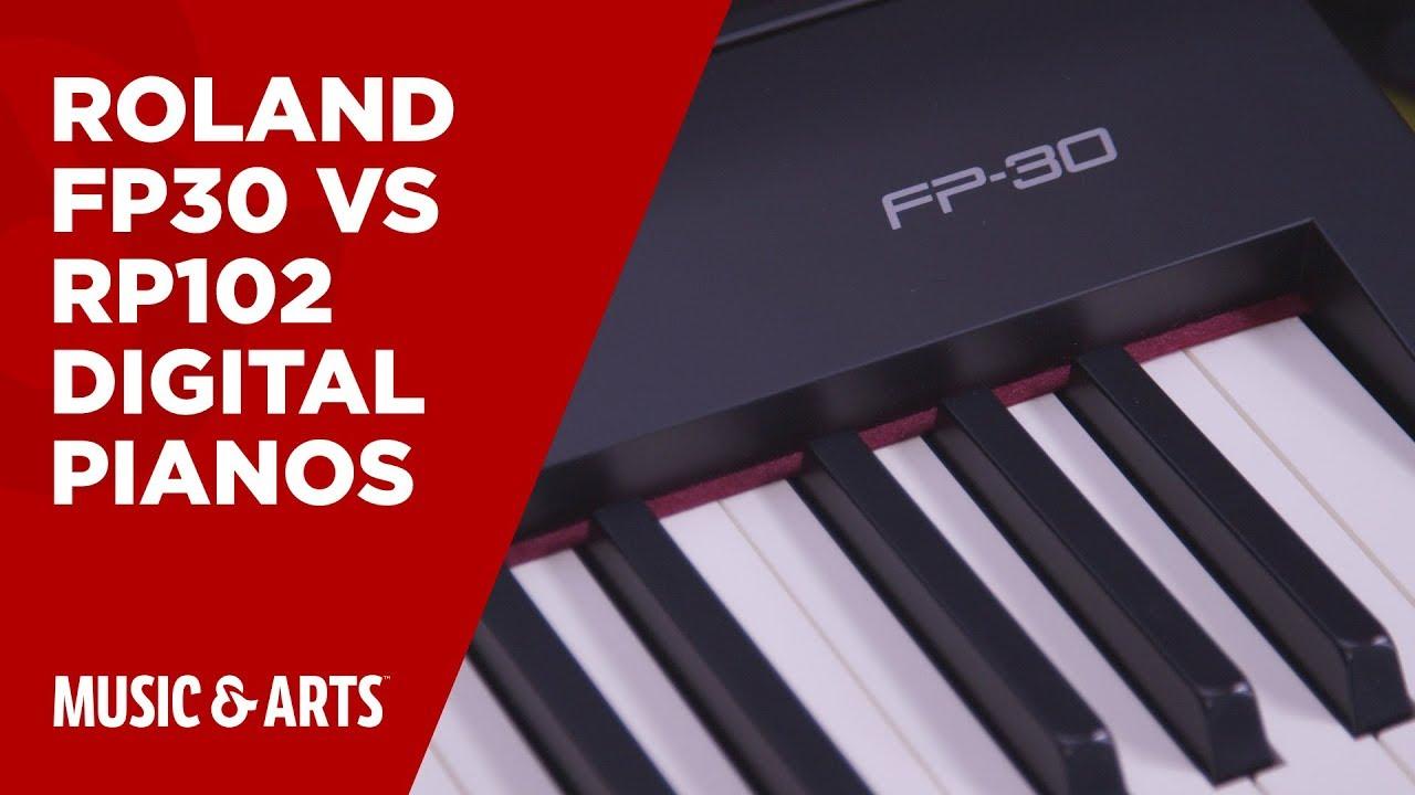 Roland Fp 30 Vs Rp 102 Digital Pianos Youtube