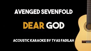 Avenged Sevenfold - Dear God (Acoustic Guitar Karaoke Version)