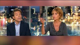 Migrants: échange musclé entre Clémentine Célarié et Geoffroy Didier sur BFMTV