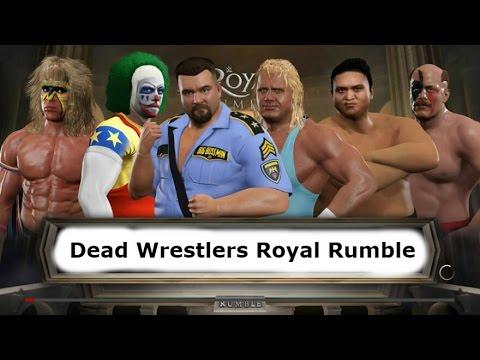 Dead Wrestlers Tribute Royal Rumble WWE 2K17
