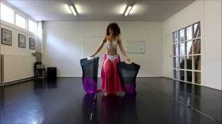 Michaela Fan Veil Belly Dance - Ice queen