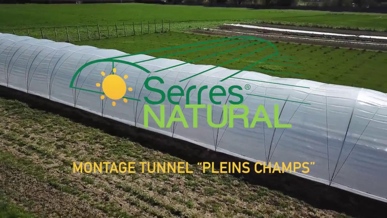 montage tunnel plein champs serres natural youtube. Black Bedroom Furniture Sets. Home Design Ideas