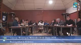 Concejo Municipal Miércoles 26 de Junio 2019 - El Quisco