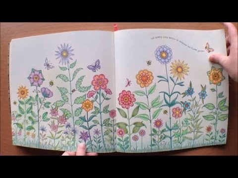 Secret Garden By Johanna Basford Colouring Book Flipthrough With Coloured Pictures