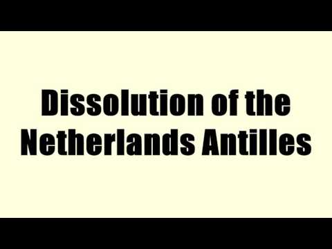 Dissolution of the Netherlands Antilles