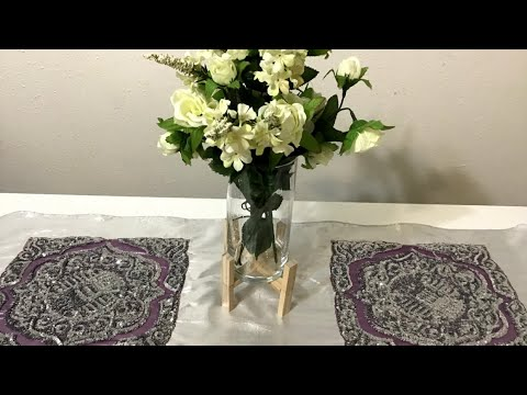 Dollar Tree DIY | WOODEN STAND for PLANT and VASE