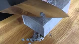 Mizuno Tarenjo Honyaki 240mm Wa-Gyuto Cutting Double Phonebook Thickness