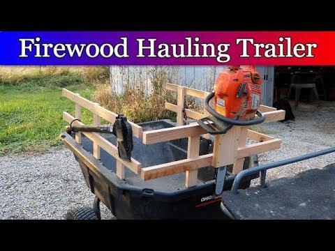 Modifying ATV trailer to Collect Firewood