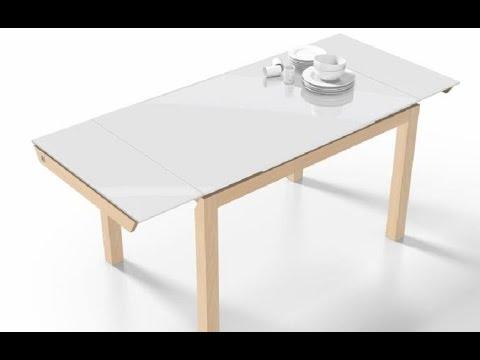 Mesa cocina extensible Fusion cancio en madera - YouTube