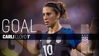 WNT vs. Thailand: Carli Lloyd Goal - Sept. 15, 2016
