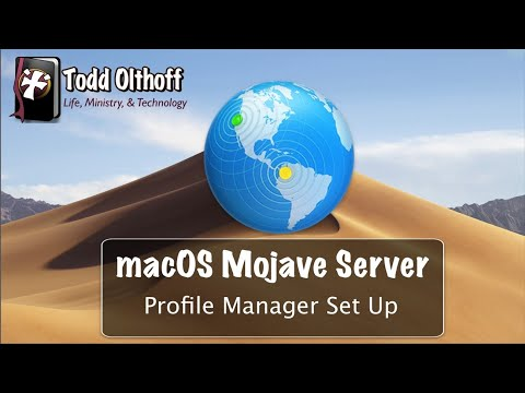 MacOS Mojave Server Part 3: Profile Manager Set Up