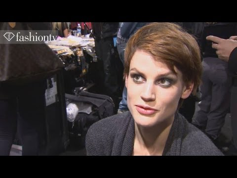 Saskia De Brauw - Model Talk at Fashion Week Fall/Winter 2012-13 | FashionTV