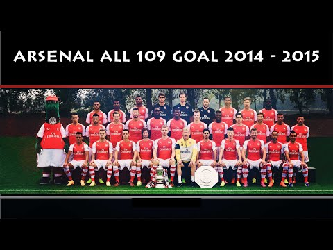 Arsenal  All 109 Goals 2014/2015