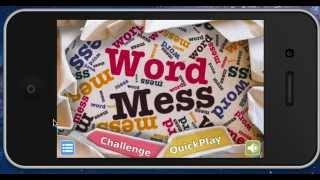 WORD MESS app Sneak Peek! Lots of fun!